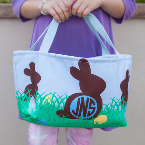 Chocolate Bunnies Initial Easter Basket