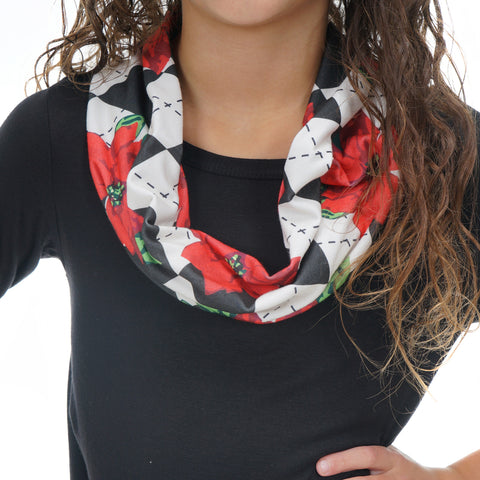 Girls Poinsettia Scarf