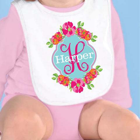 Flower Name Fleece Bib