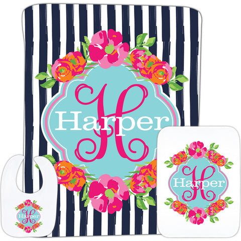 Flower Name Baby Gift Set