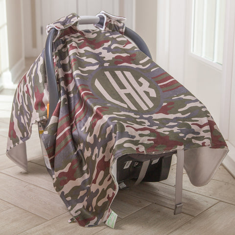 Camo Initial Carseat Cover