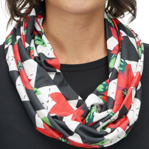 Ladies Poinsettia Scarf