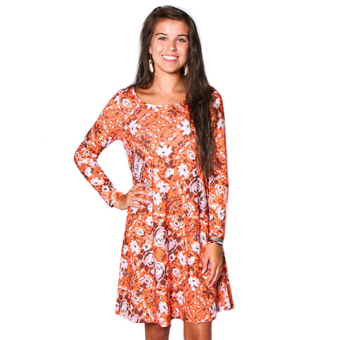 Orange Rose Aubrey Dress