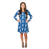 Navy Deer Aubrey Dress