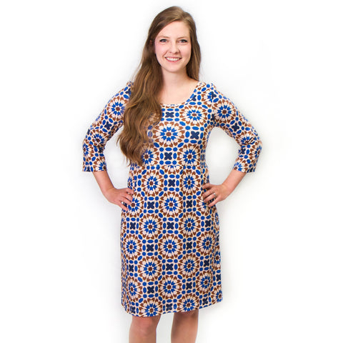 Mosaic Blue Olivia Dress