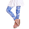 Girls Watercolor Snowflake Arden Leggings