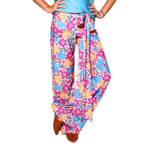 Whimsy Floral Fun Palazzo Pant