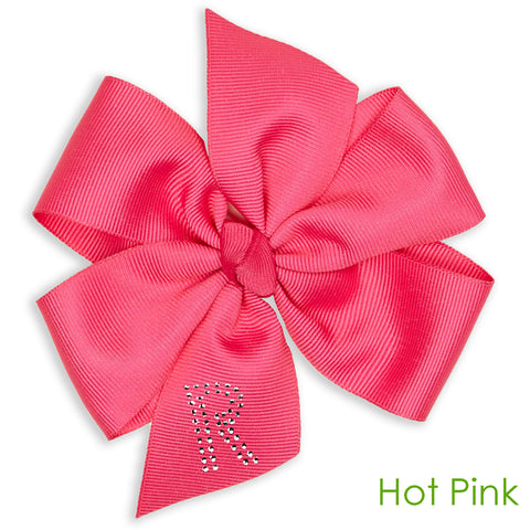 Double Loop Hairbow Bling Initial-You Choose Color!