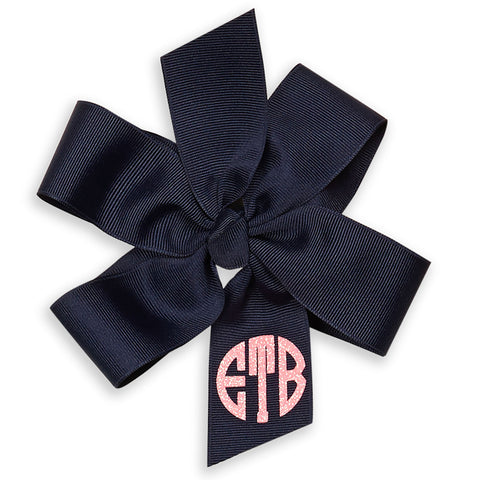 Double Loop Bow Circle Monogram - You choose color!