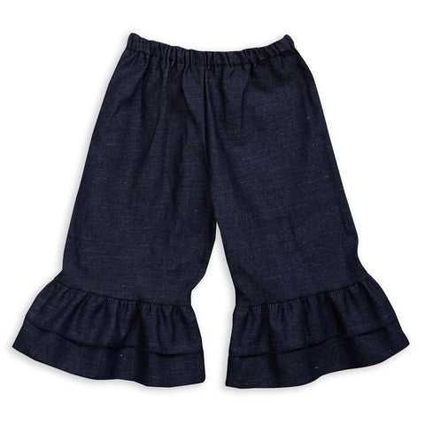Girls Dark Denim Capri