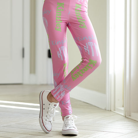 Girls Name & Monogram Arden Leggings