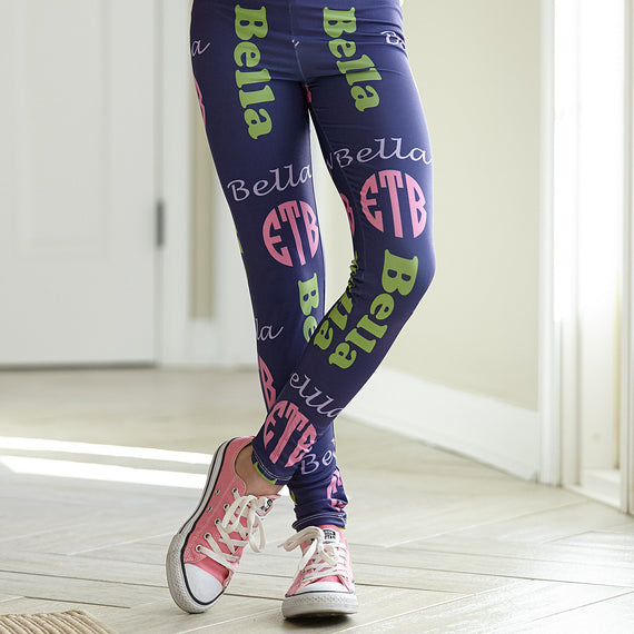 9d1c17b3599e0 Girls Name & Monogram Arden Leggings – Lolly Wolly Doodle