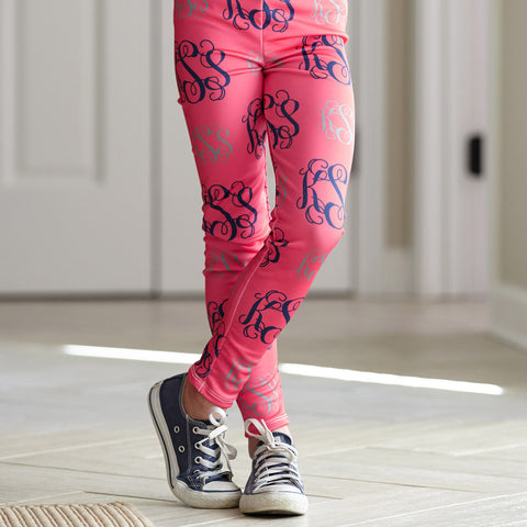 Girls Monogram Arden Leggings