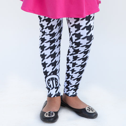 Girls Houndstooth Arden Leggings