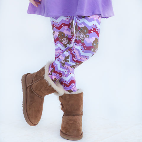 Girls Lavender Gingerbread Arden Leggings