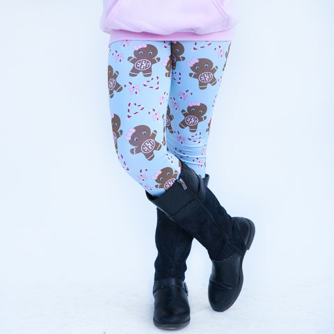 Girls Light Blue Gingerbread Arden Leggings