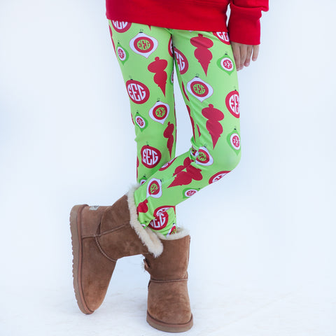 Girls Lime Ornament Arden Leggings