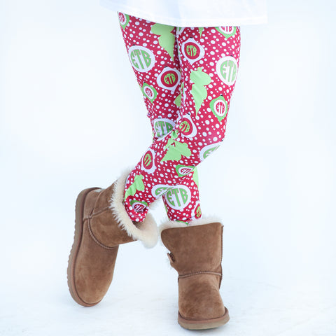 Girls Red Dot Ornament Arden Leggings