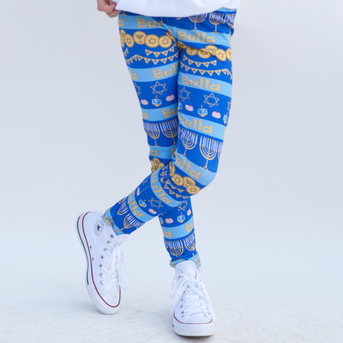 Girls Hanukkah Arden Leggings