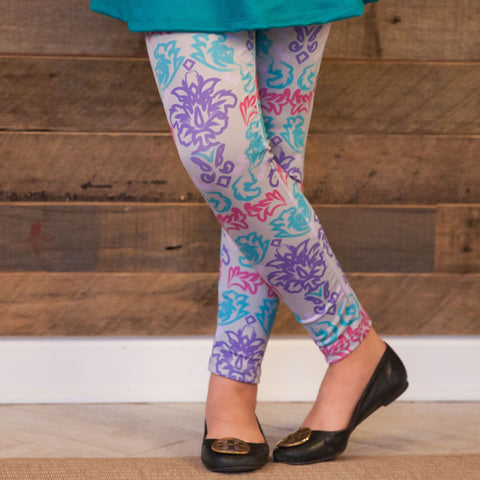 Girls Damask Arden Leggings