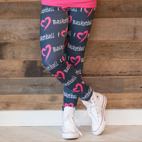 Girls Custom I Love Arden Leggings