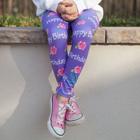 Girls Custom Initial Arden Leggings