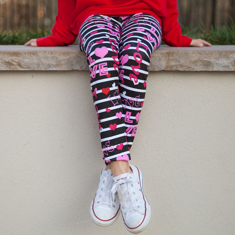 Girls Valentine Love Arden Leggings