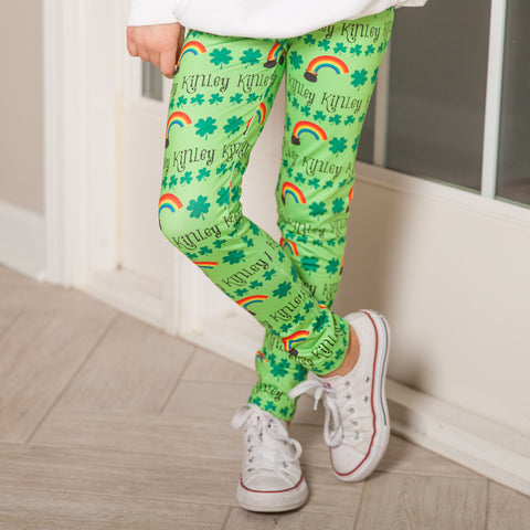 Girls Rainbow Name Arden Leggings