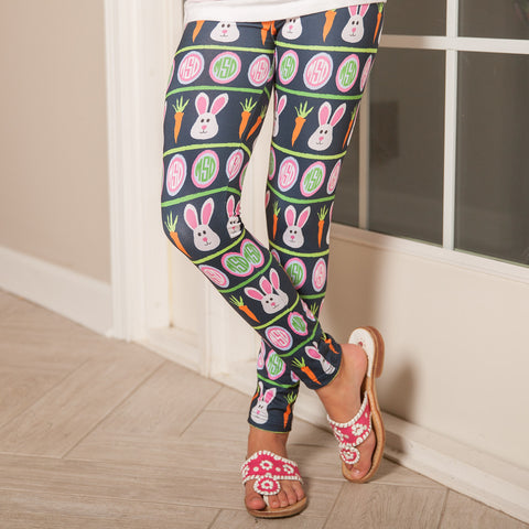 Girls Easter Initials Arden Leggings