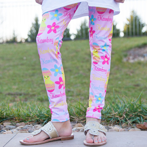 Girls Chick Name Arden Leggings