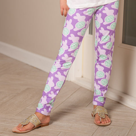 Girls Bunny Initial Arden Leggings