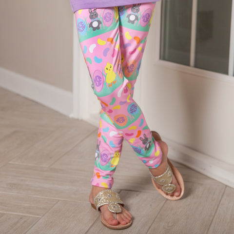 Girls Jellybeans Initial Arden Leggings