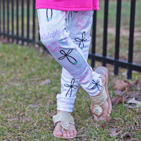 Girls He Is Risen Arden Leggings