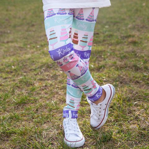 Girls Birthday NAME Arden Leggings