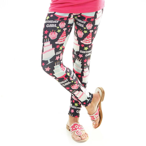 Girls Birthday Girl Arden Leggings