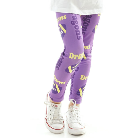Girls Football Name and Mascot Arden Leggings
