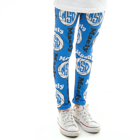 Girls Volleyball Arden Leggings