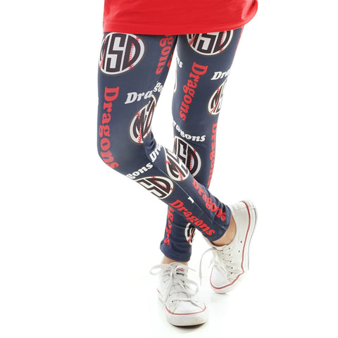 Girls Baseball Arden Leggings