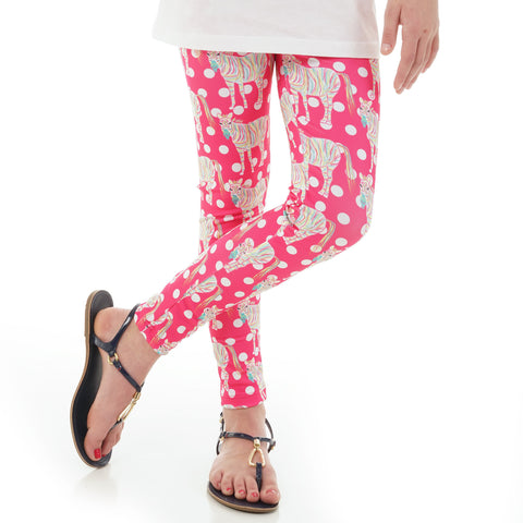 Girls Zebra Dot Arden Leggings