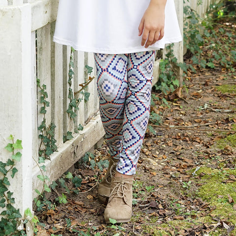 Girls Woodland Aztec Arden Leggings