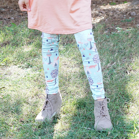 Girls Woodland Animals Arden Leggings