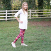 Girls Corn Maze Initials Arden Leggings