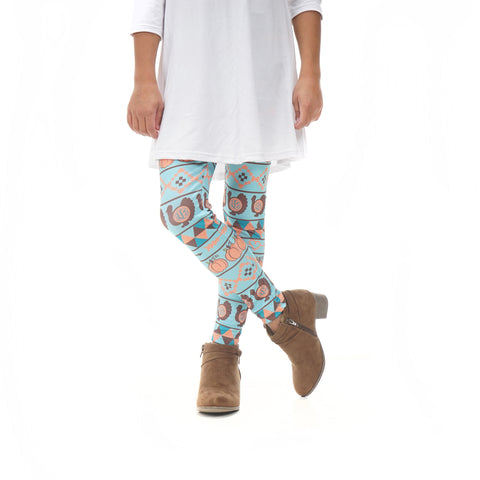 Girls Pumpkin Patch Initials Arden Leggings
