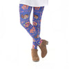 Girls Happy Thanksgiving Initials Arden Leggings