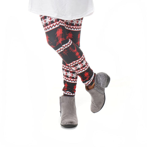 Girls Country Christmas Deer Arden Leggings