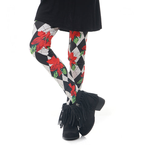 Girls Poinsettia Arden Leggings