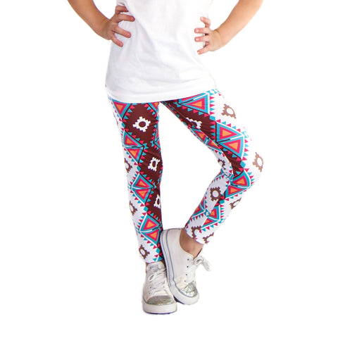Girls Tribal Triangles Arden Leggings