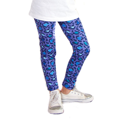 Girls Purple Cheetah Arden Leggings