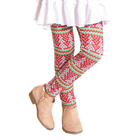 Girls Christmas Knit Arden Leggings