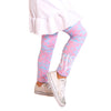 Girls Pink Nordic Initials Arden Leggings